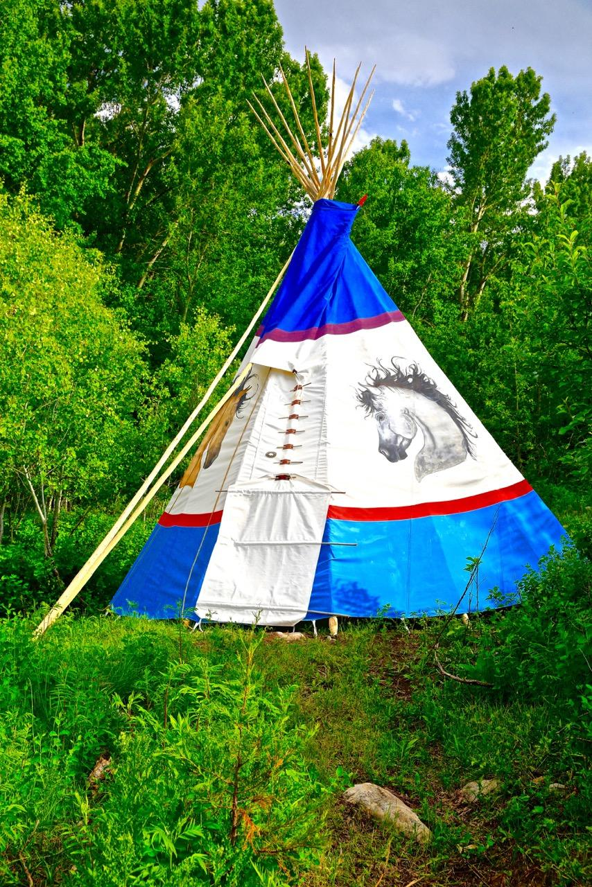 THOSE HEADED INTO THE WILDERNESS SHOULD, HIRE A NATIVE AMERICAN TO TEACH YOU HOW TO BUILD A TEEPEE.  IT'S NOT AS EASY AS YOU WOULD THINK