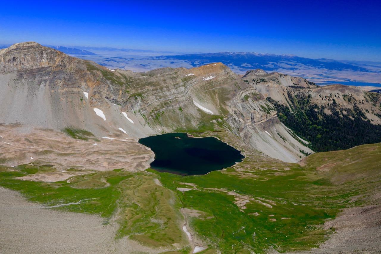 'CEDAR LAKE' - GALLATIN RANGE - SOUTH OF BIG SKY MONTANA - AERIAL
