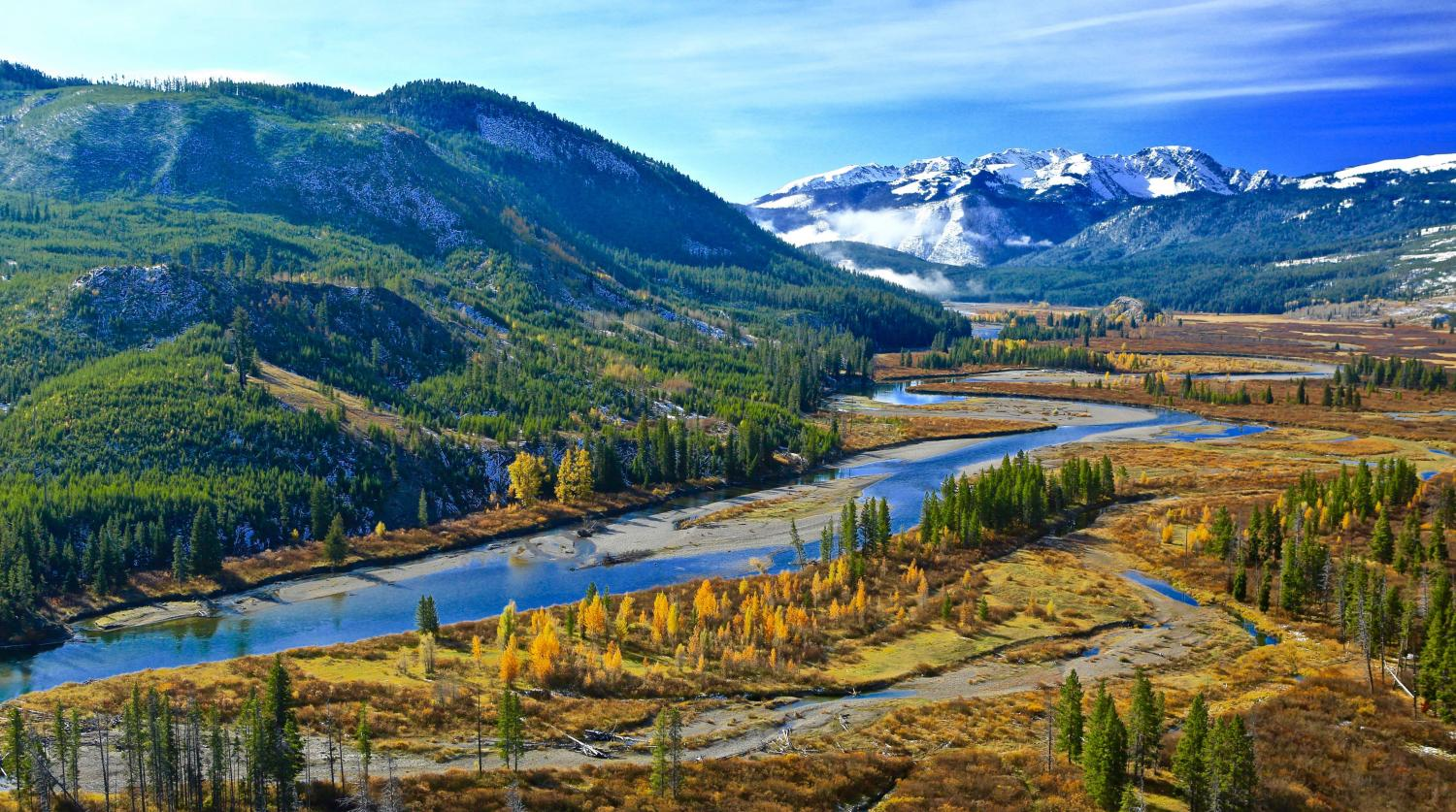 """""""EARLY MORNING- EARLY FALL"""" YELLOWSTONE-TETON SOUTHERN BORDER-THIS AREA IS VISUALLY MIND BLOWING!"""