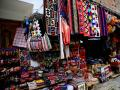 """PERUVIAN STREET MERCHANTS"" PRESENT THEIR VERY COLORFUL TEXTILES, WHICH IS A PHOTOGRAPHERS DELIGHT!"