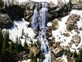 """""""SPRING THAW,""""BEING PUSHED INTO SUMMER ON THE MONTANA - WYOMING BORDER IS HOME TO 100'S OF WATERFALLS ONLY ACCESSIBLE BY HELI'S-SQ"""
