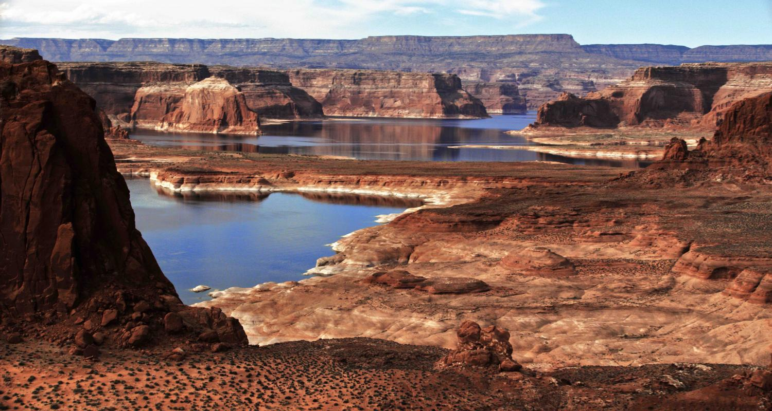 HAVING FILMED THE ENTIRE LENGTH OF LAKE POWELL MONTHS AGO, I CAN TELL YOU THIS IS A VERY DIRE SITUATION UNFOLDING NOW!  COPYRIGHT STEVE QUAYLE